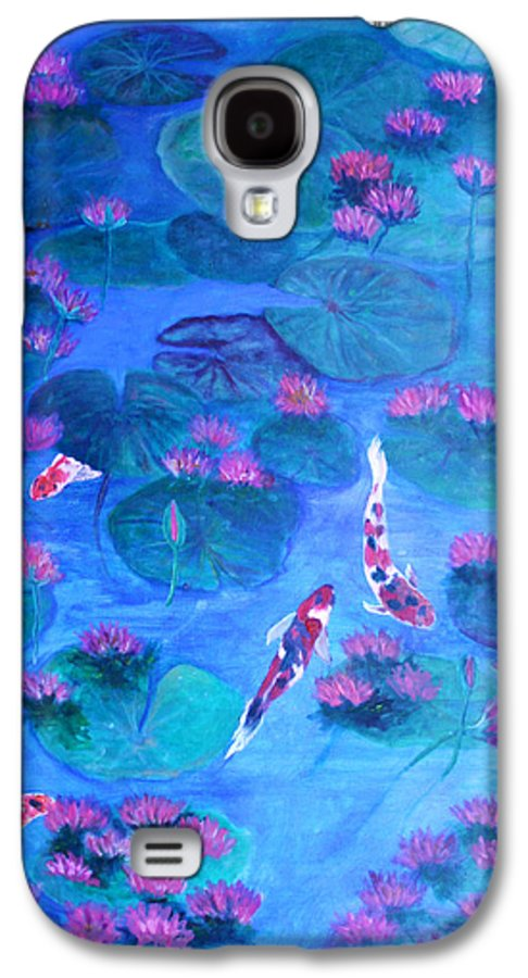 Lily Pads Galaxy S4 Case featuring the painting Serene Pond by Ben Kiger