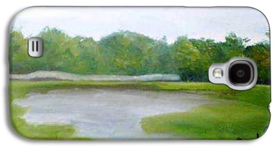 Landscape Galaxy S4 Case featuring the painting Serene Vista by Sheila Mashaw