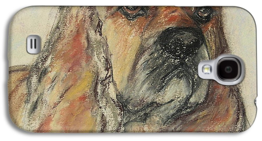 Dog Galaxy S4 Case featuring the drawing Serious Intent by Cori Solomon
