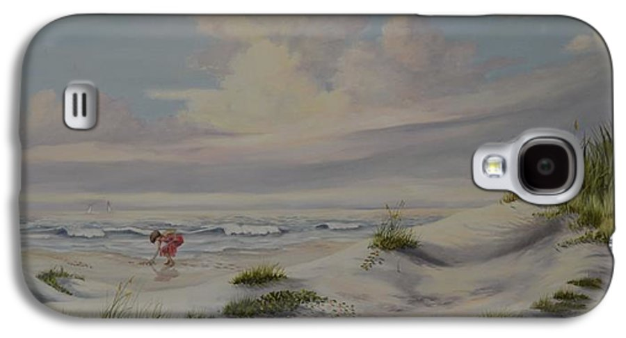 Landscape Galaxy S4 Case featuring the painting Shadows In The Sand Dunes by Wanda Dansereau