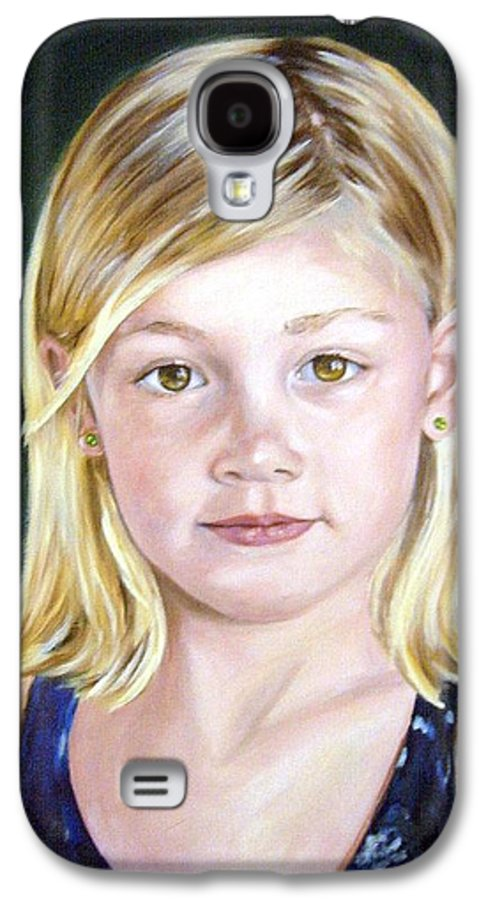 Portrait Galaxy S4 Case featuring the painting Shannon by Anne Kushnick