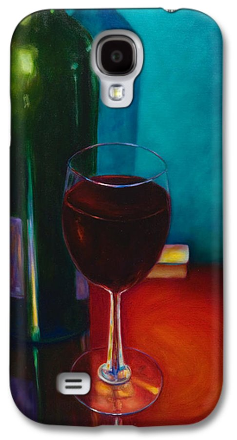 Wine Bottle Galaxy S4 Case featuring the painting Shannon's Red by Shannon Grissom