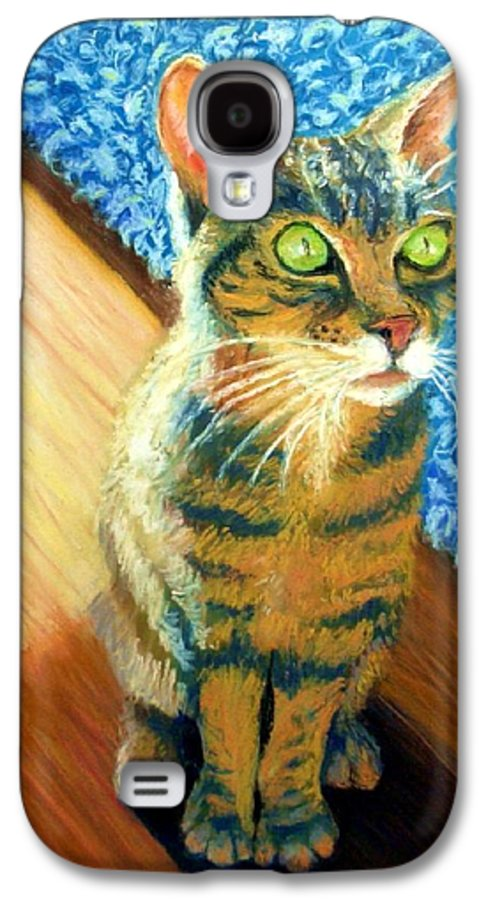 Cat Galaxy S4 Case featuring the painting She Wants To Be Famous by Minaz Jantz