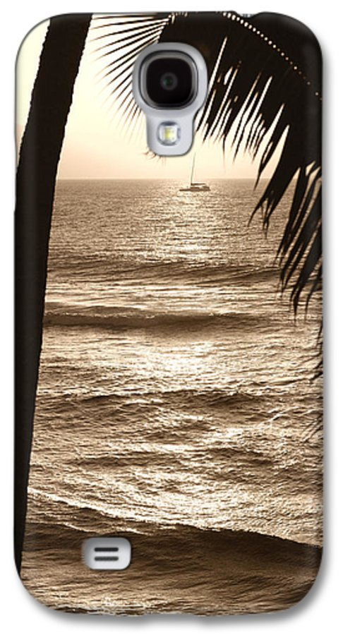 Hawaii Galaxy S4 Case featuring the photograph Ship In Sunset by Marilyn Hunt