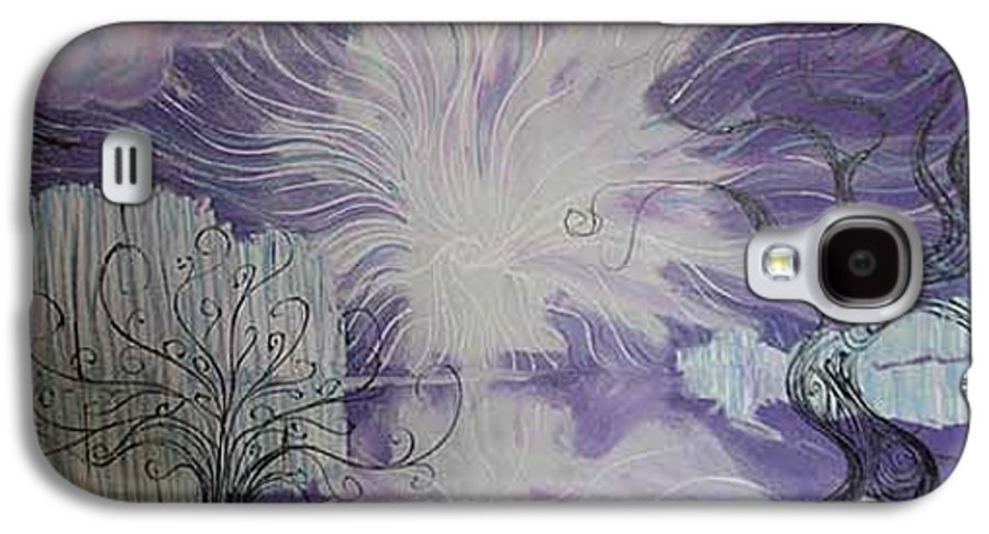 Squiggleism Galaxy S4 Case featuring the painting Shore Dance by Stefan Duncan