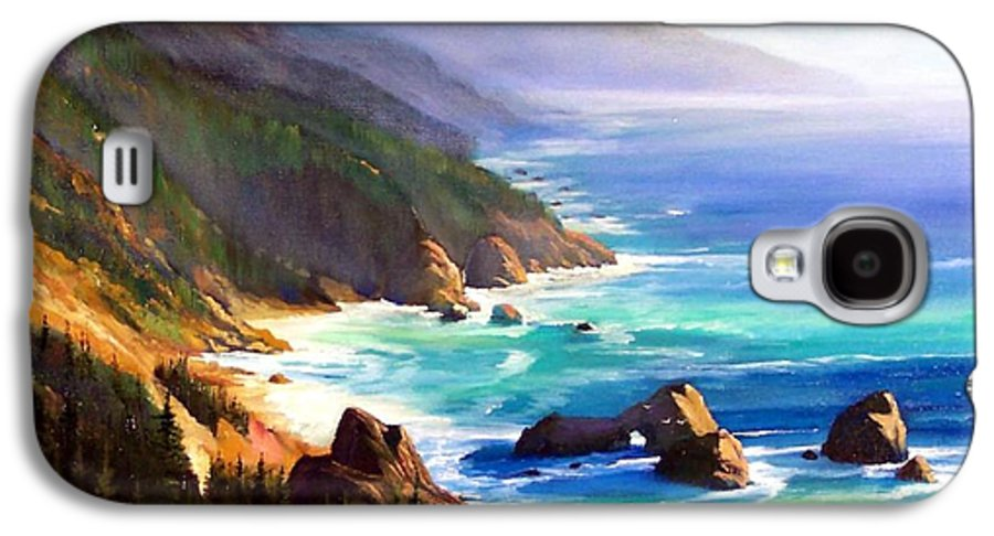 Seascape Galaxy S4 Case featuring the painting Shore Trail by Frank Wilson