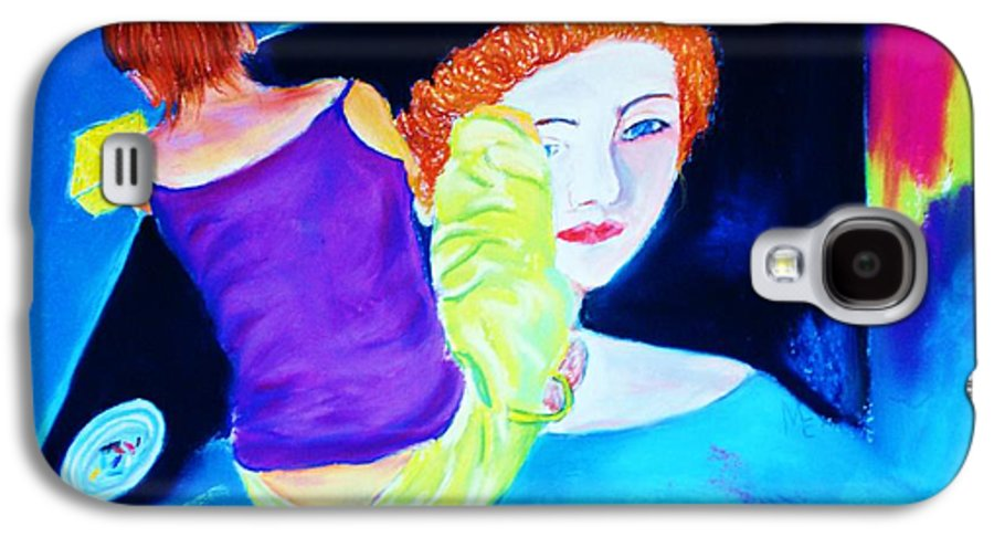 Painting Within A Painting Galaxy S4 Case featuring the print Sidewalk Artist II by Melinda Etzold