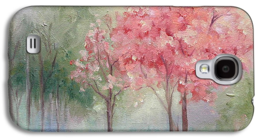 Spring Galaxy S4 Case featuring the painting Sign Of Spring by Ginger Concepcion