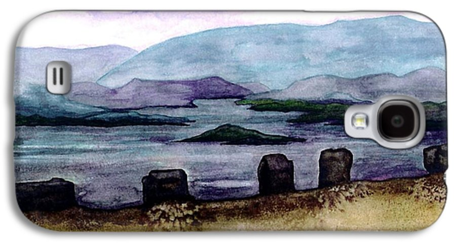 Original Painting Galaxy S4 Case featuring the painting Silent Sentinels by Patricia Griffin Brett