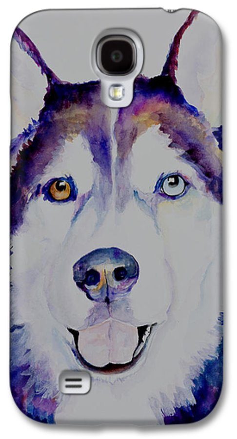 Siberian Husky Galaxy S4 Case featuring the painting Simba by Pat Saunders-White