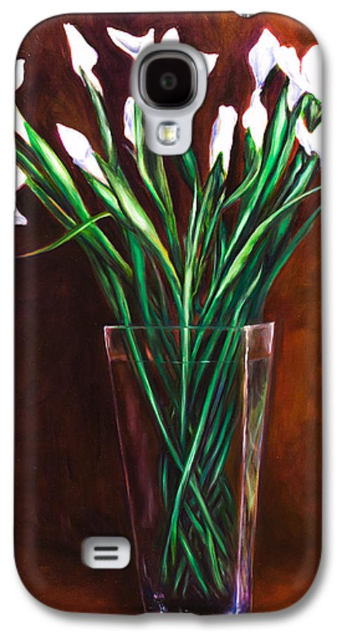 Iris Galaxy S4 Case featuring the painting Simply Iris by Shannon Grissom
