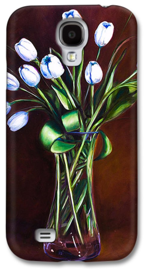 Shannon Grissom Galaxy S4 Case featuring the painting Simply Tulips by Shannon Grissom