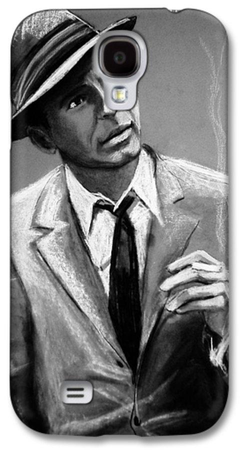 Frank Sinatra Galaxy S4 Case featuring the drawing Sinatra by Laura Rispoli