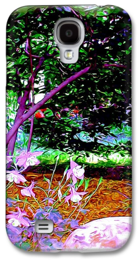 Fine Art Galaxy S4 Case featuring the painting Sitting In The Shade by Patricia Griffin Brett