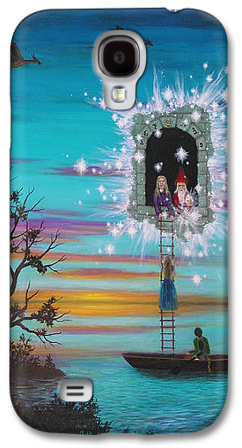 Fantasy Galaxy S4 Case featuring the painting Sky Window by Roz Eve