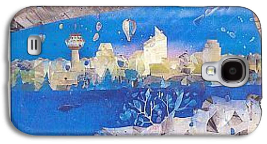 Landscape Galaxy S4 Case featuring the painting Skyline by Rick Silas