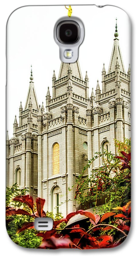 Galaxy S4 Case featuring the photograph Slc Temple Angle by La Rae Roberts