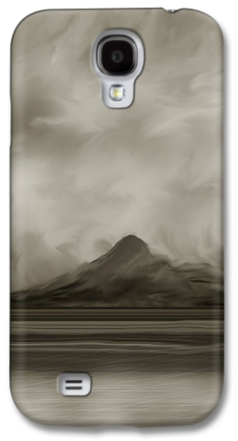 Wyoming Galaxy S4 Case featuring the painting Sleeping Giant And Beck Lake by Anne Norskog