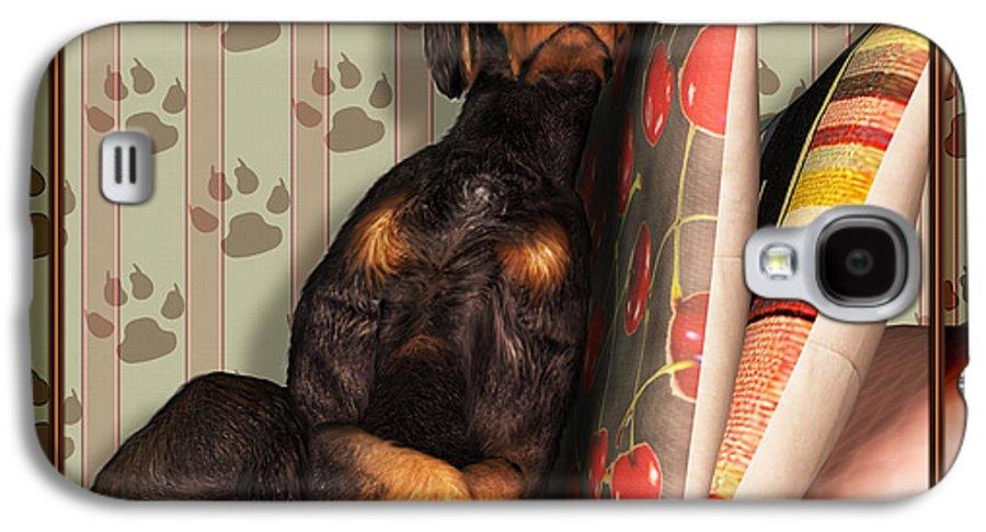 Dog Galaxy S4 Case featuring the digital art Sleeping I by Nik Helbig