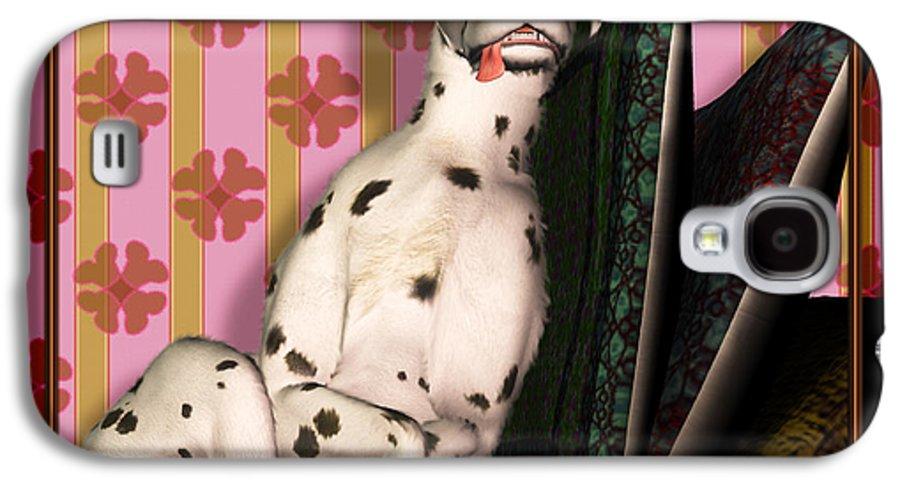 Dalmatian Galaxy S4 Case featuring the digital art Sleeping IIi by Nik Helbig