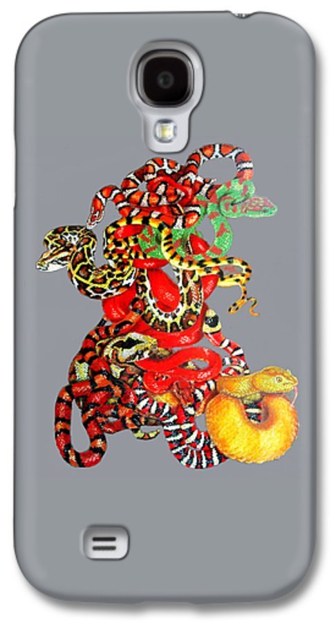 Reptile Galaxy S4 Case featuring the drawing Slither by Barbara Keith