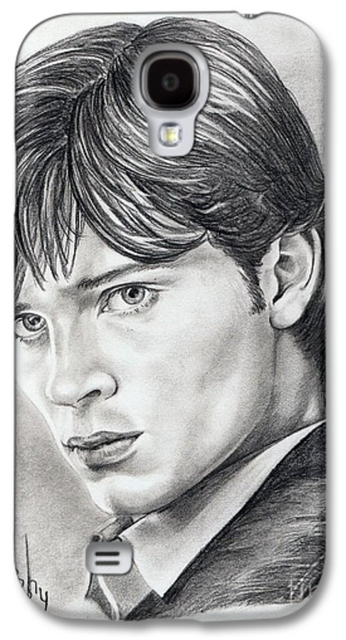 Superman Galaxy S4 Case featuring the drawing Smallville Tom Welling by Murphy Elliott