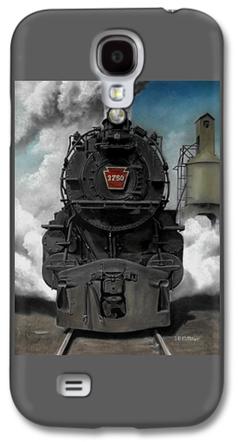 Trains Galaxy S4 Case featuring the painting Smoke And Steam by David Mittner