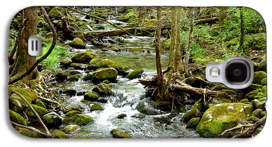 Smoky Mountains Galaxy S4 Case featuring the photograph Smoky Mountain Stream 1 by Nancy Mueller