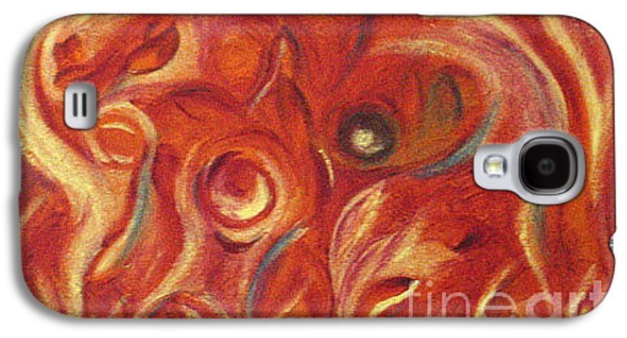 Colorfull Galaxy S4 Case featuring the painting Snapy by Fanny Diaz