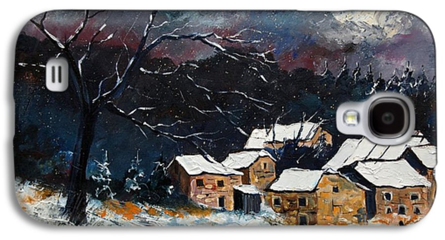 Snow Galaxy S4 Case featuring the painting Snow 57 by Pol Ledent