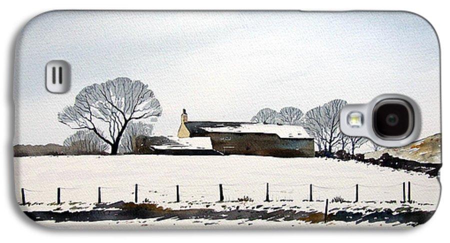 Winter Scene Galaxy S4 Case featuring the painting Snow Scene Barkisland by Paul Dene Marlor