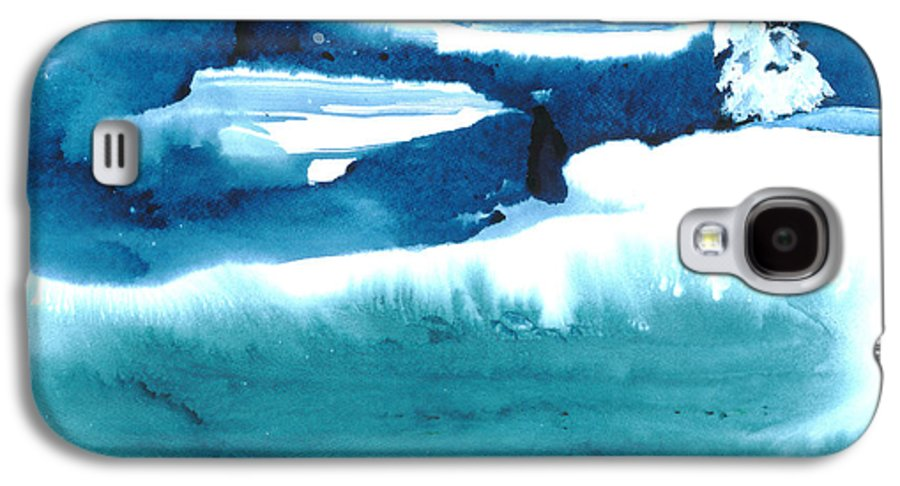 A Flock Of Snowy Egrets Standing In Snowy Country - A Watercolor Painting Galaxy S4 Case featuring the painting Snowy Egrets by Mui-Joo Wee