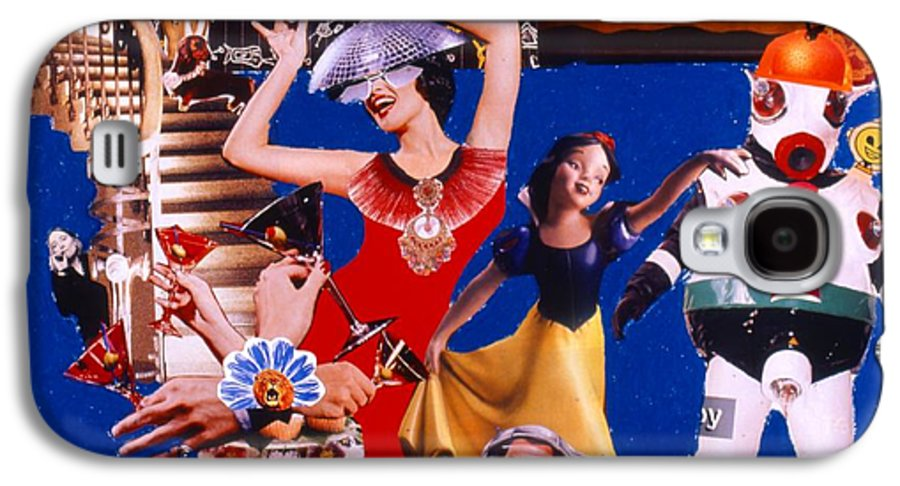Surreal Galaxy S4 Case featuring the drawing Soap Scene #23 Oscar's Kiss Of Success by Minaz Jantz
