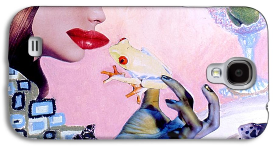 Frogs Galaxy S4 Case featuring the drawing Soap Scene #6 Frogs Legs For Dinner by Minaz Jantz
