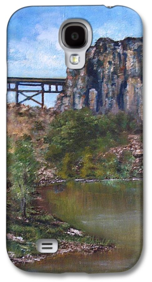 Landscape Galaxy S4 Case featuring the painting S.o.b Caynon by Darla Joy Johnson