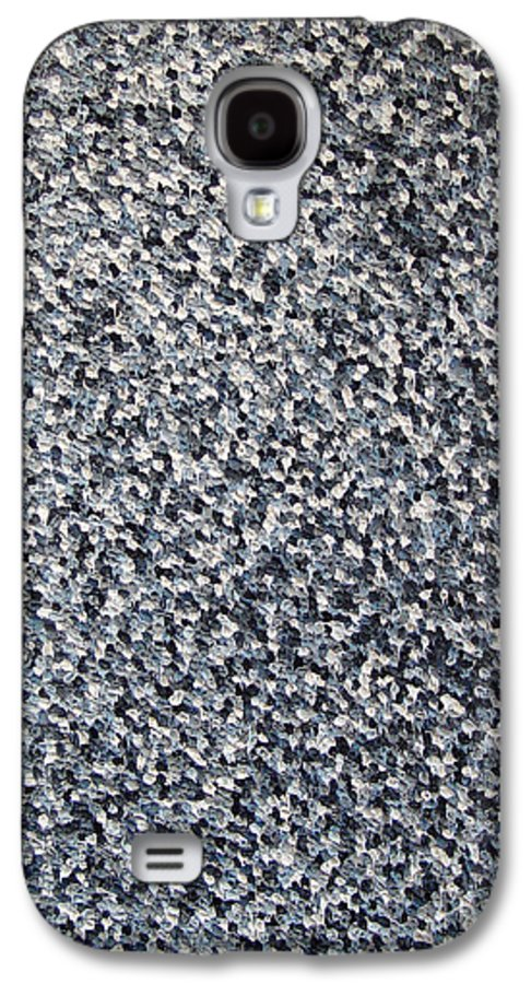 Abstract Galaxy S4 Case featuring the painting Soft Grey Scale by Dean Triolo