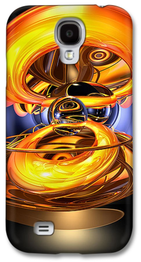 3d Galaxy S4 Case featuring the digital art Solar Flare Abstract by Alexander Butler