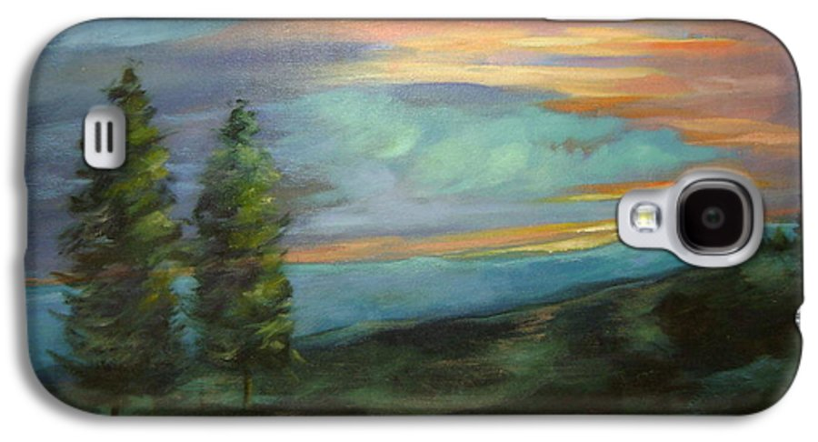 Landscape Galaxy S4 Case featuring the painting Soledad by Ginger Concepcion