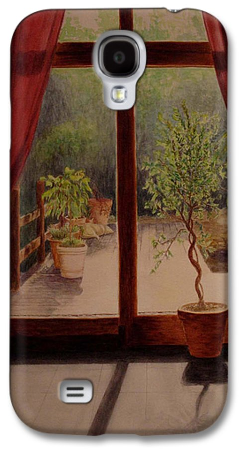 House Galaxy S4 Case featuring the painting Solitude by Nik Helbig