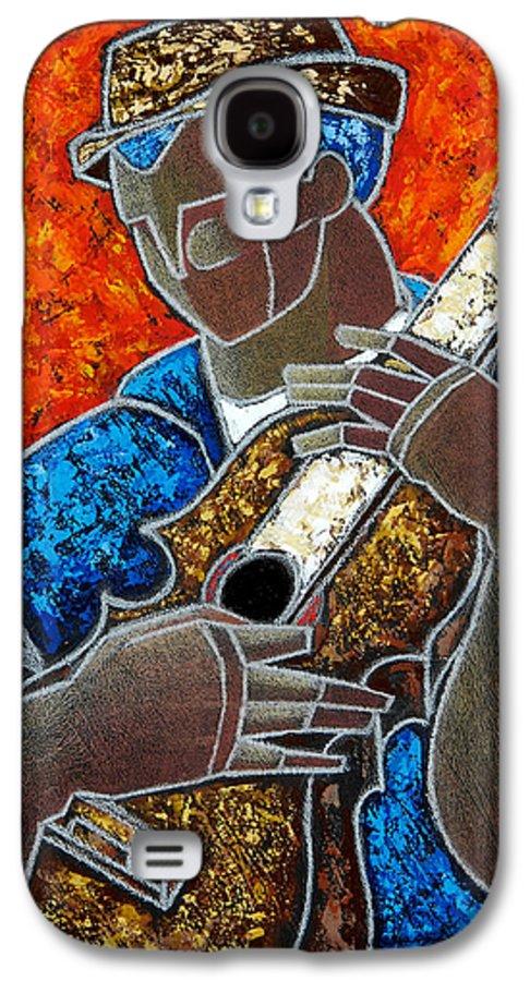 Puerto Rico Galaxy S4 Case featuring the painting Solo De Cuatro by Oscar Ortiz