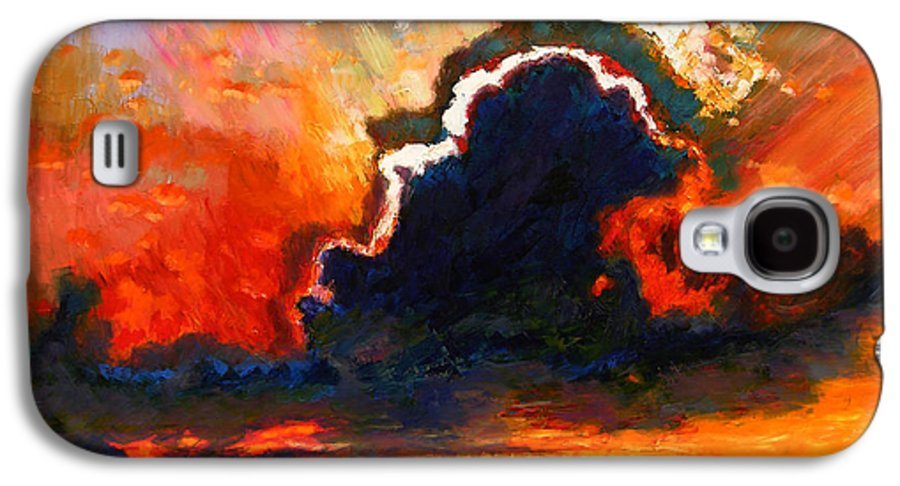 Landscape Galaxy S4 Case featuring the painting Some Glad Morning by John Lautermilch
