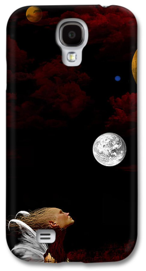 Moon Galaxy S4 Case featuring the digital art Sometimes I Wonder by Ruben Flanagan