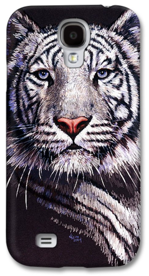 Tiger Galaxy S4 Case featuring the drawing Sorcerer by Barbara Keith
