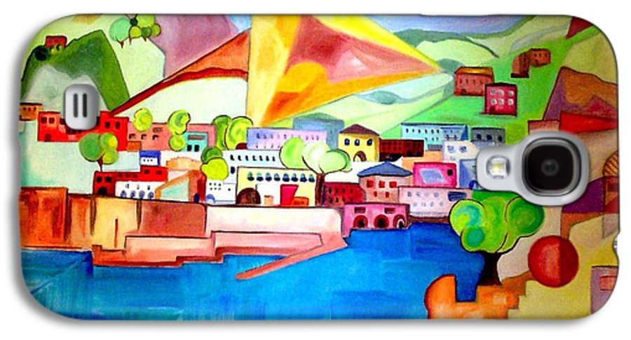 Abstract Galaxy S4 Case featuring the painting Sorrento by Patricia Arroyo