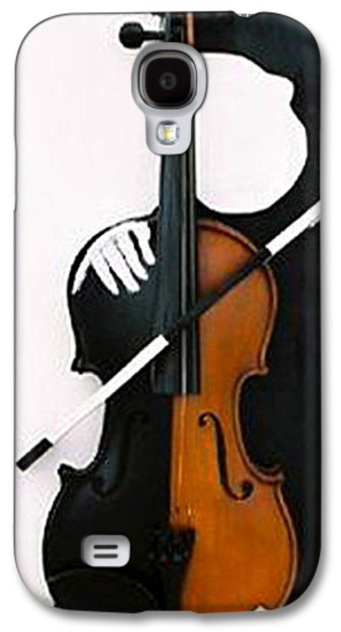 Violin Galaxy S4 Case featuring the sculpture Soul Of Music by Steve Karol
