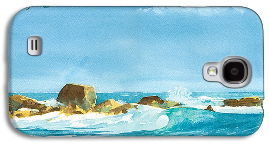 Waves Galaxy S4 Case featuring the painting Sound Of Surf by Ray Cole