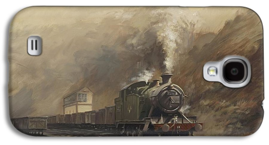 Steam Galaxy S4 Case featuring the painting South Wales Coal Train by Richard Picton