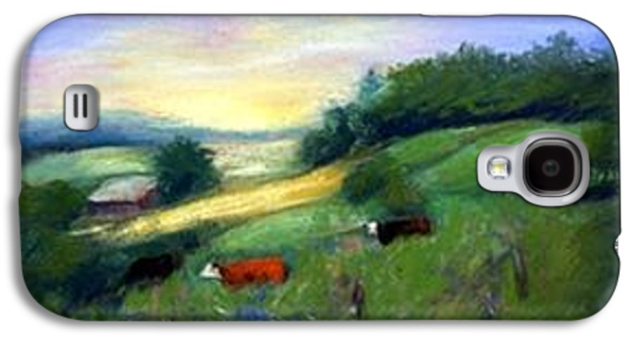 Landscape Galaxy S4 Case featuring the painting Southern Ohio Farm by Gail Kirtz