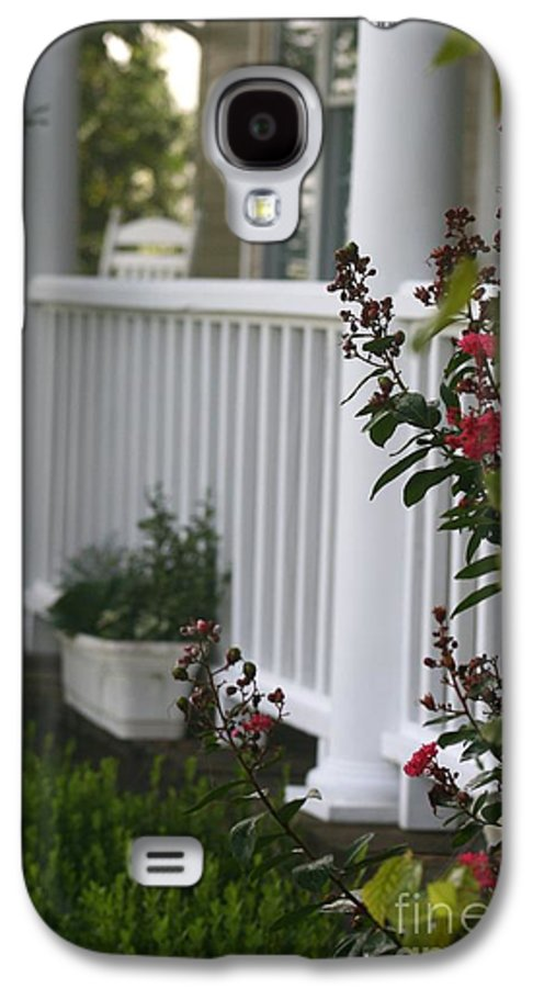 Summer Galaxy S4 Case featuring the photograph Southern Summer Flowers And Porch by Nadine Rippelmeyer