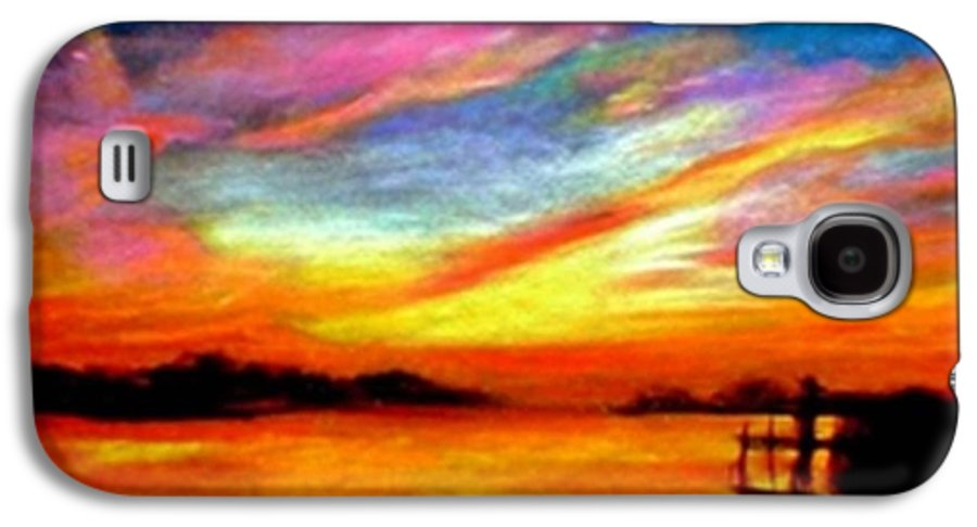 Sunset Galaxy S4 Case featuring the painting Southern Sunset by Gail Kirtz